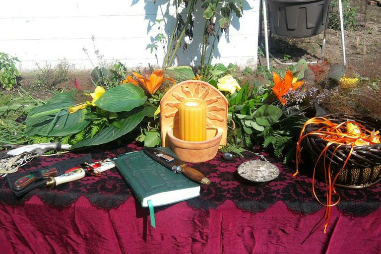 Litha Altar Outdoors