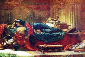 Queen Vashti deposed by Ernest Normand, 1890.