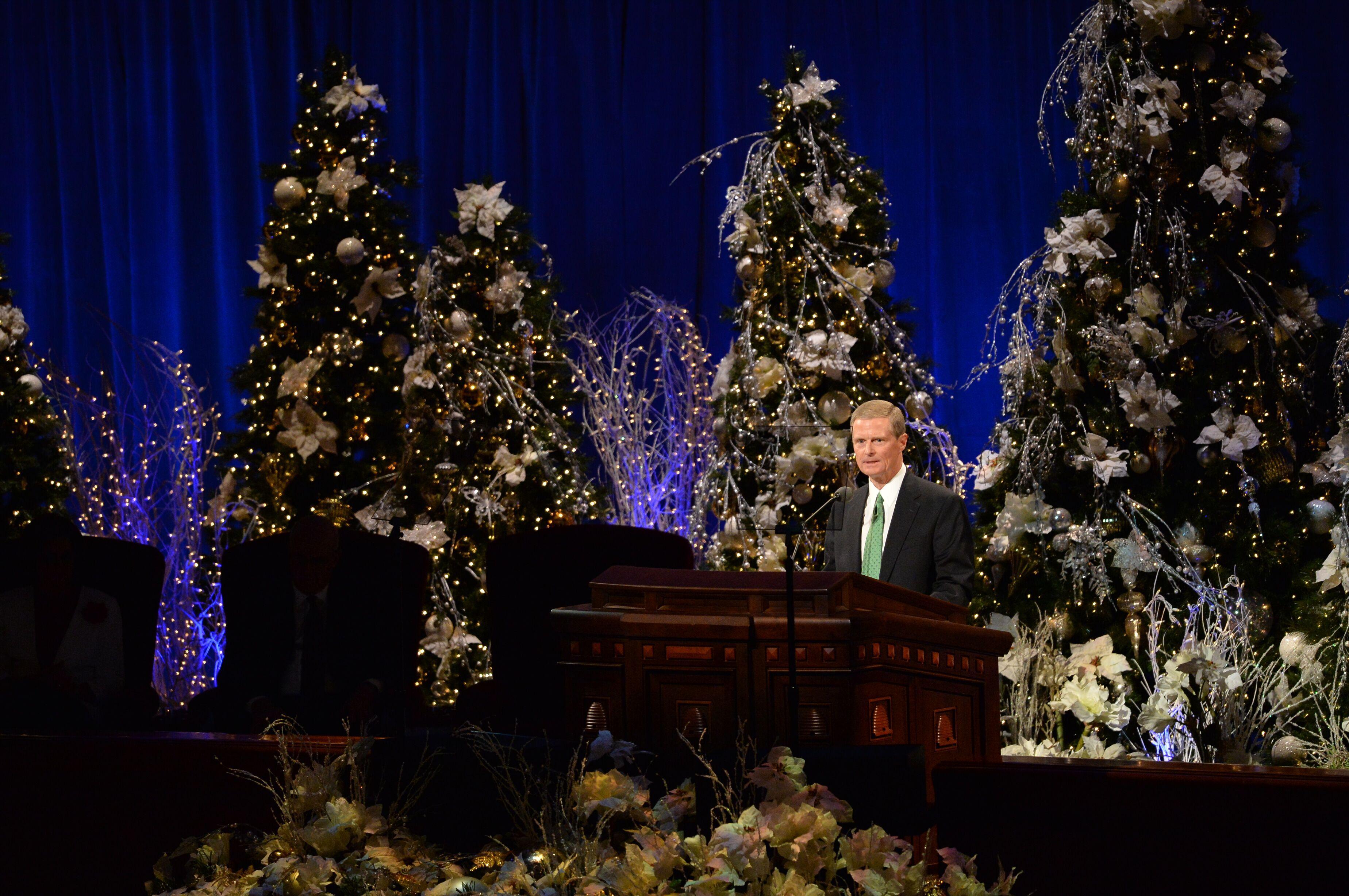 Elder David A. Bednar at Christmas Devotional