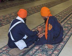 Neat Bana of Orange Domalla With Blue Cholla