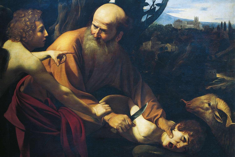 """""""The Sacrifice of Isaac,"""" by Michelangelo Merisi da Caravaggio, 1603-1604"""