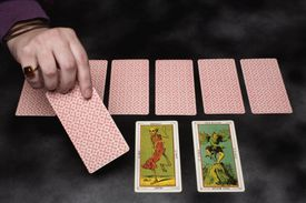 A tarot card reading