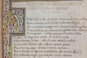 A manuscript of Lucretius' De Rerum Natura