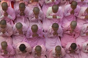 Young Buddhist Nuns