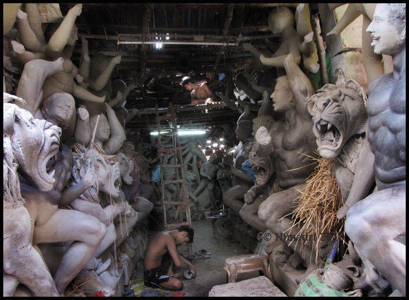 Inside a sculpture studio in India