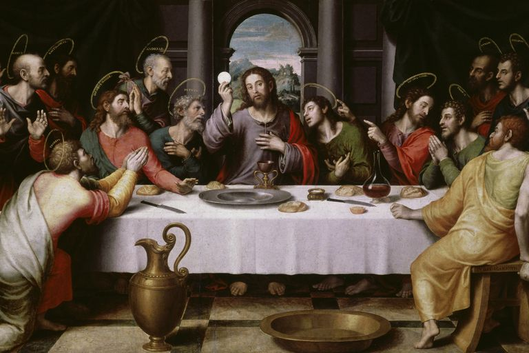 Christ and the 12 apostles