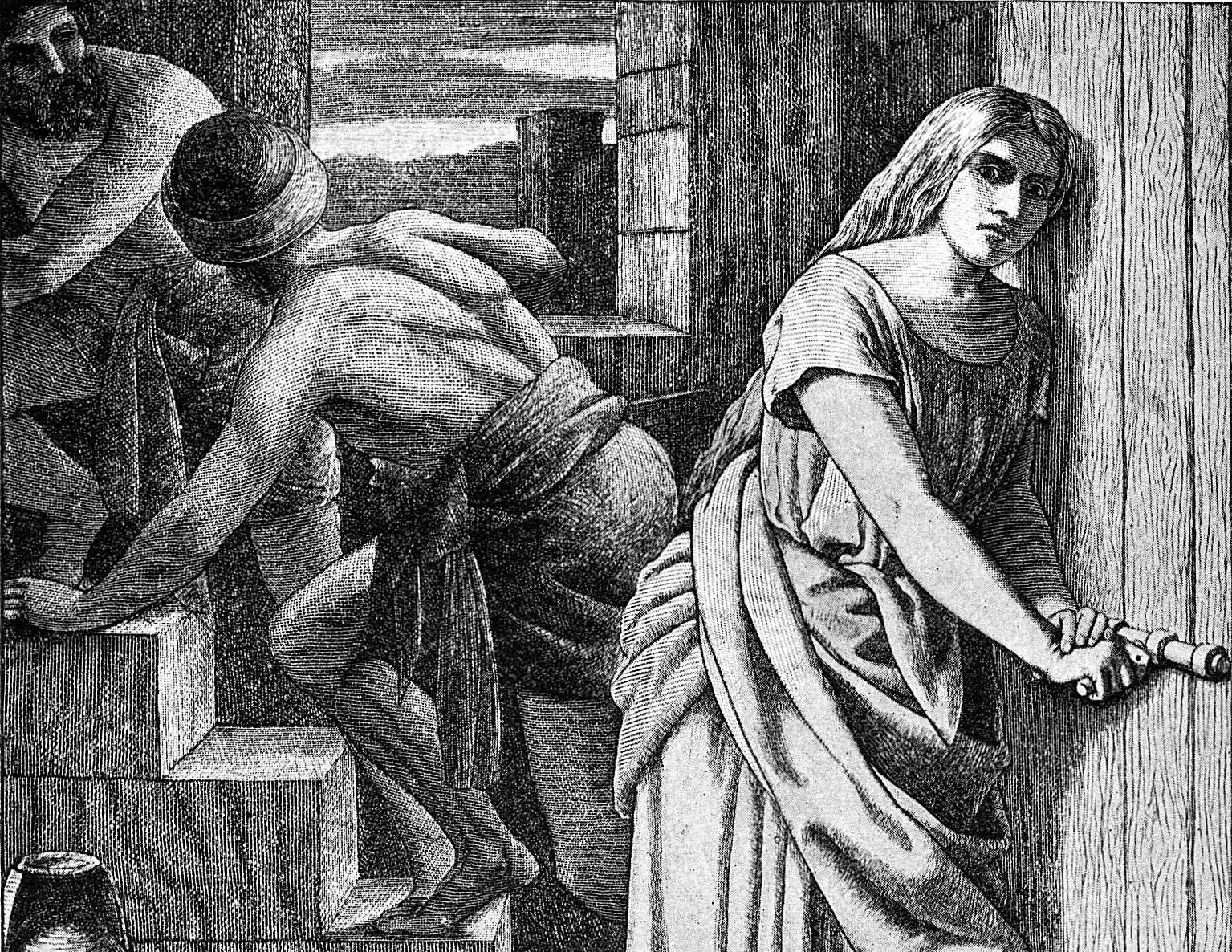 Rahab Helping the Two Israelite Spies by Frederick Richard Pickersgill (1897).