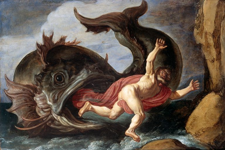 Painting of Jonah and the Whale