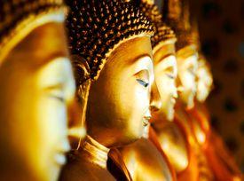 Buddhas at Wat Arun, Bangkok, Thailand