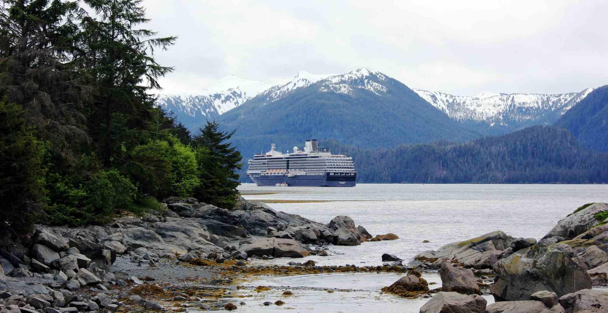 Christian cruise on Sitka Sound, Alaska