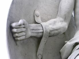 Warrior Strong Arm and Shield Statue