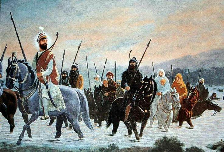 Guru Gobind Singh crossing the Sarsa