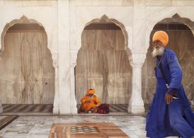 Residents Of Sikh Temple, Gurudwara Bangla Sahib, Delhi, India