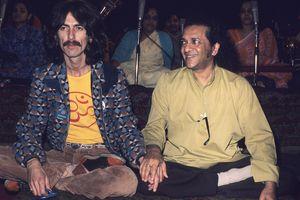 George Harrison and Ravi Shankar.