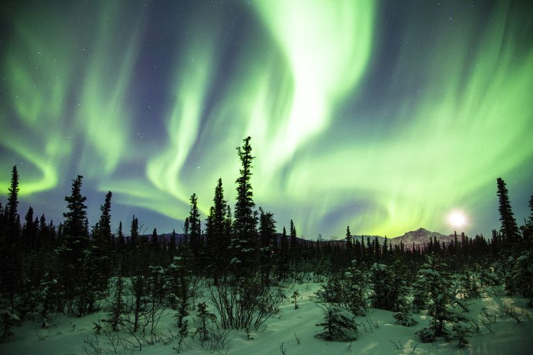 The Aurora Borealis over Alaska