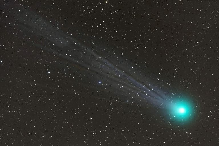 A comet in space.