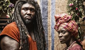 Black Samson and his Mother.