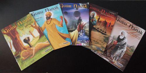 """Guru Nanak"" Graphic Novels by Daljit Singh Sidhu Volumes 1 - 5"