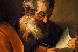 John Mark writing the Gospel of Mark