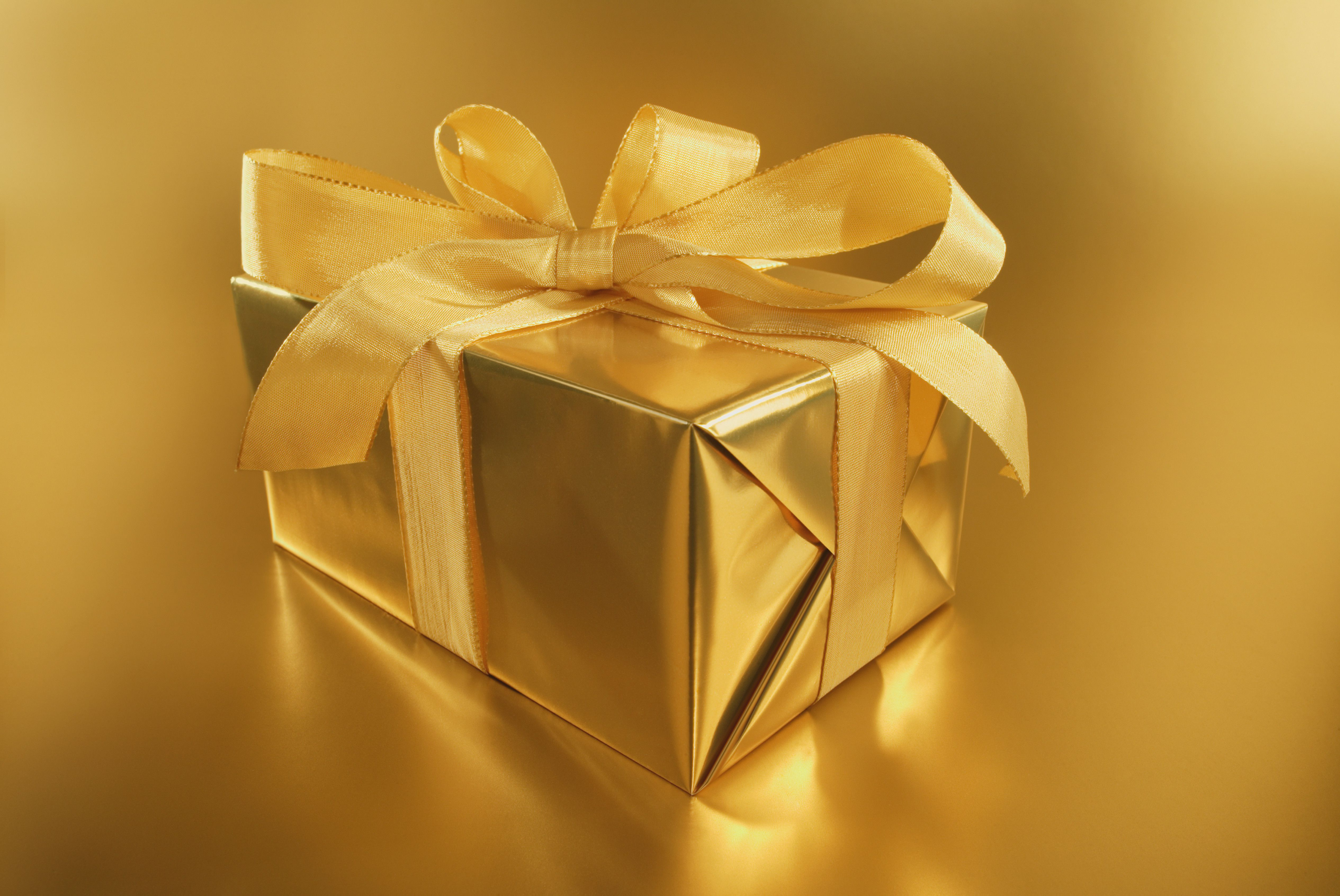 Golden Wrapped Gift