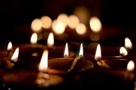 Candles lit