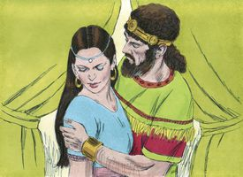 Illustration of David and Bathsheba