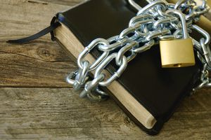 Book with chains