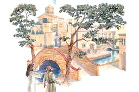 Illustration of the Tree of Life in the New Jerusalem