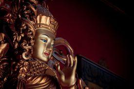 A golden bodhisattva in Beijing, China