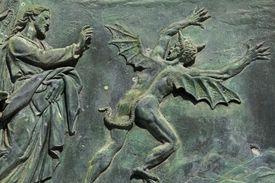 Detail of bronze door, Pisa Cathedral.