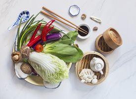 colorful ingredients used in chinese cuisine
