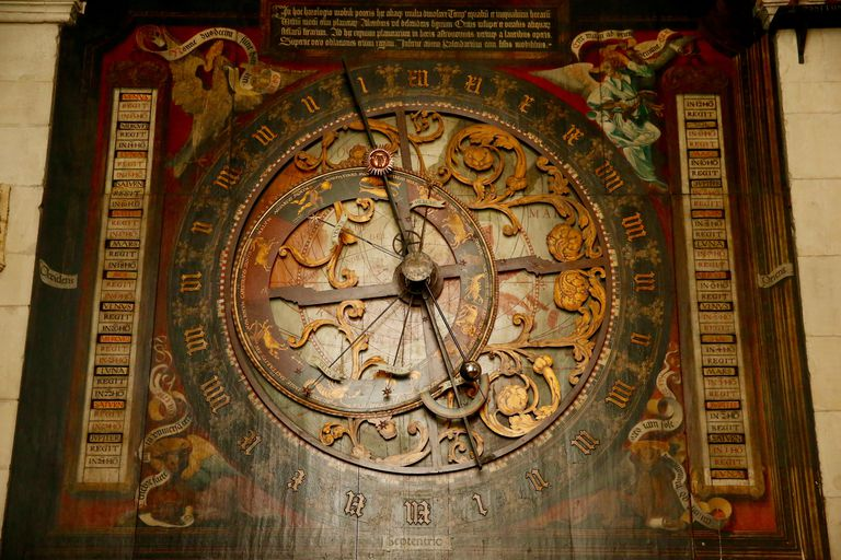 Astronomical clock and calendar, Cathedral of Saint Paul