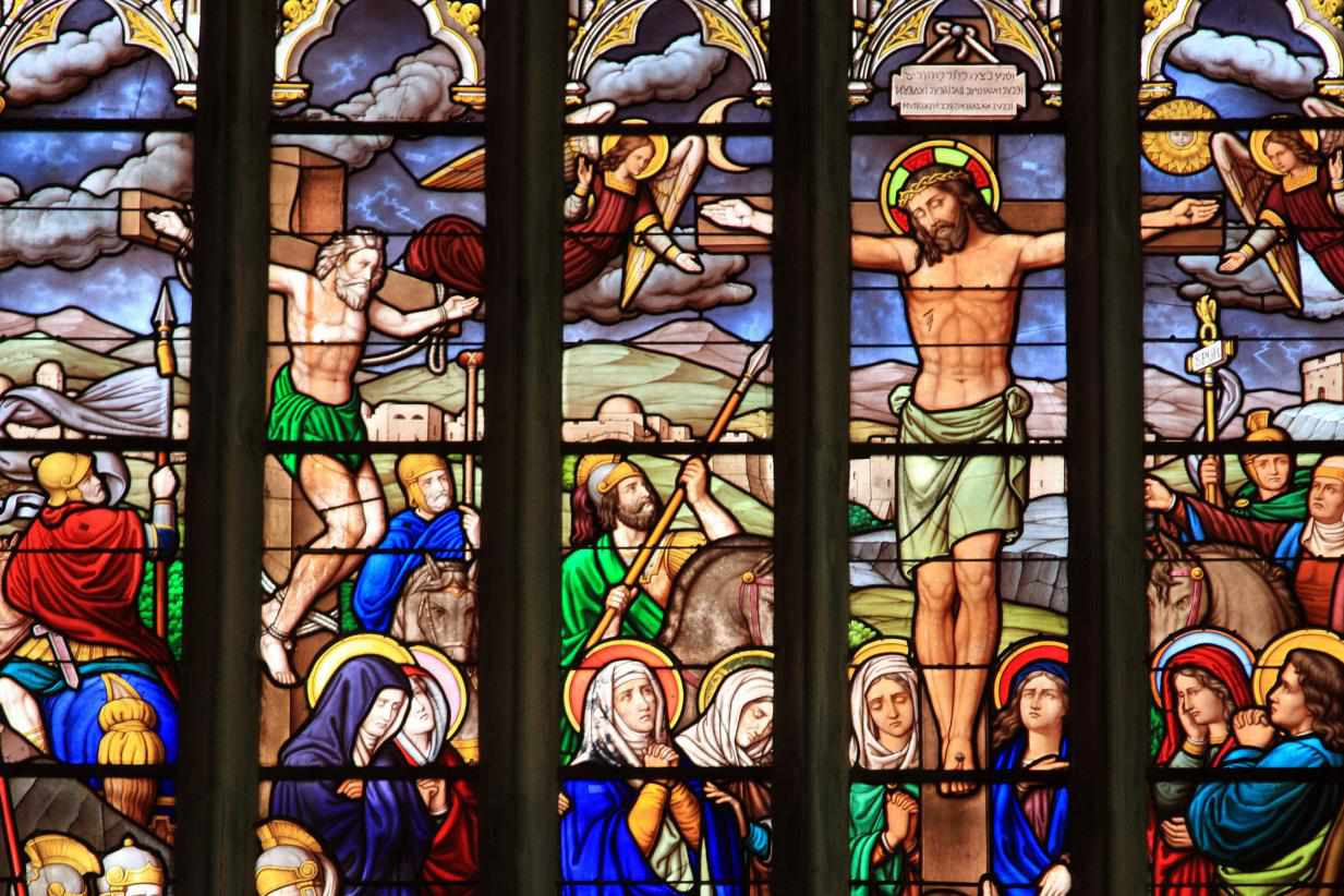 Crucifixion Stained Glass
