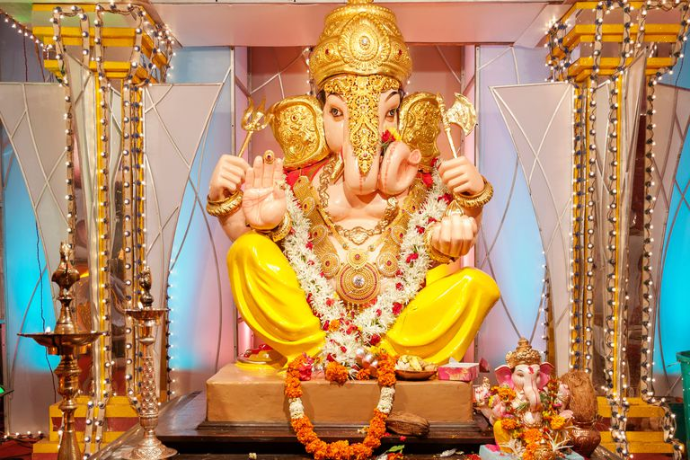 Lord Ganesh during Ganesh festival in India.
