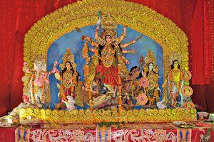 Durga Idol, Durga Puja Celebration, New Delhi