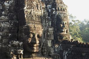 The stone faces of Angkor Thom