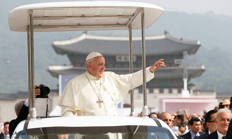 Pope Francis in Korea in 2014