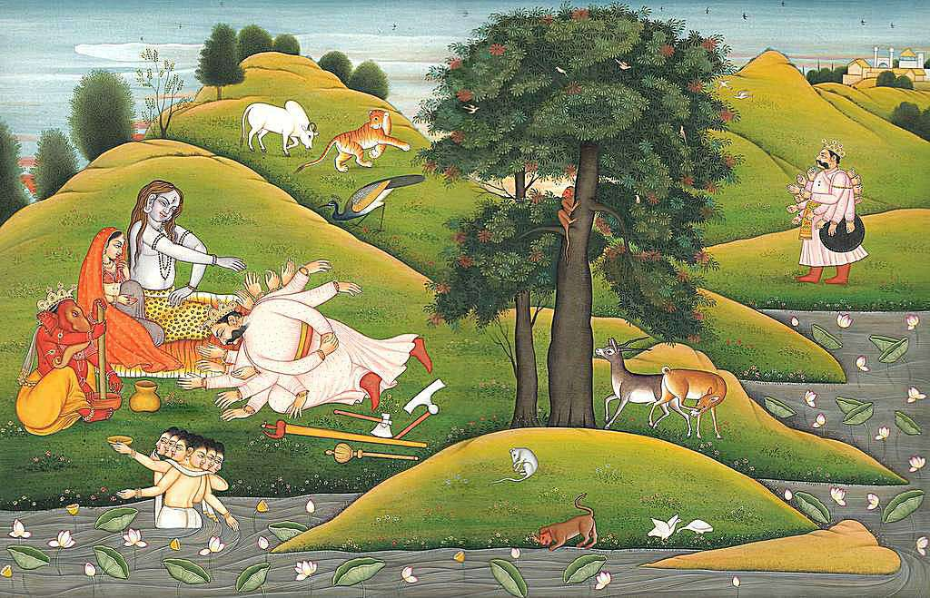 A scene from the many stories of Shiva
