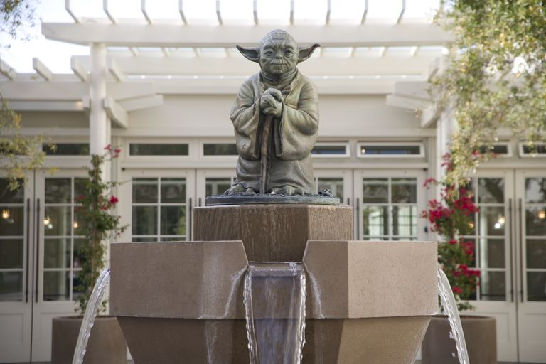 Sculpture of Yoda at Letterman Digital Arts Center