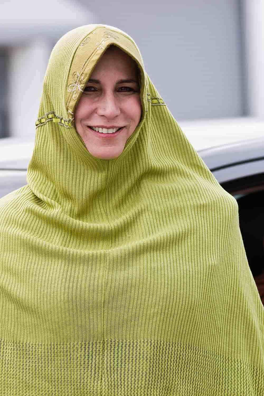 A woman wearing a khimar