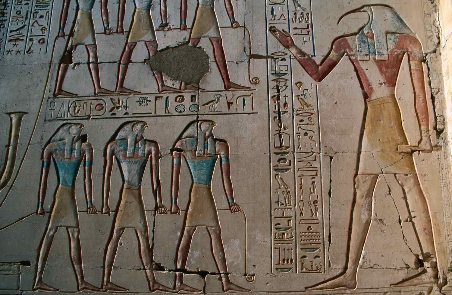 Thoth Carving in Temple
