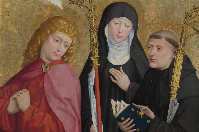 Saints John the Evangelist, Scholastica and Benedict