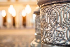 Pillar of a mosque in Muscat, Oman