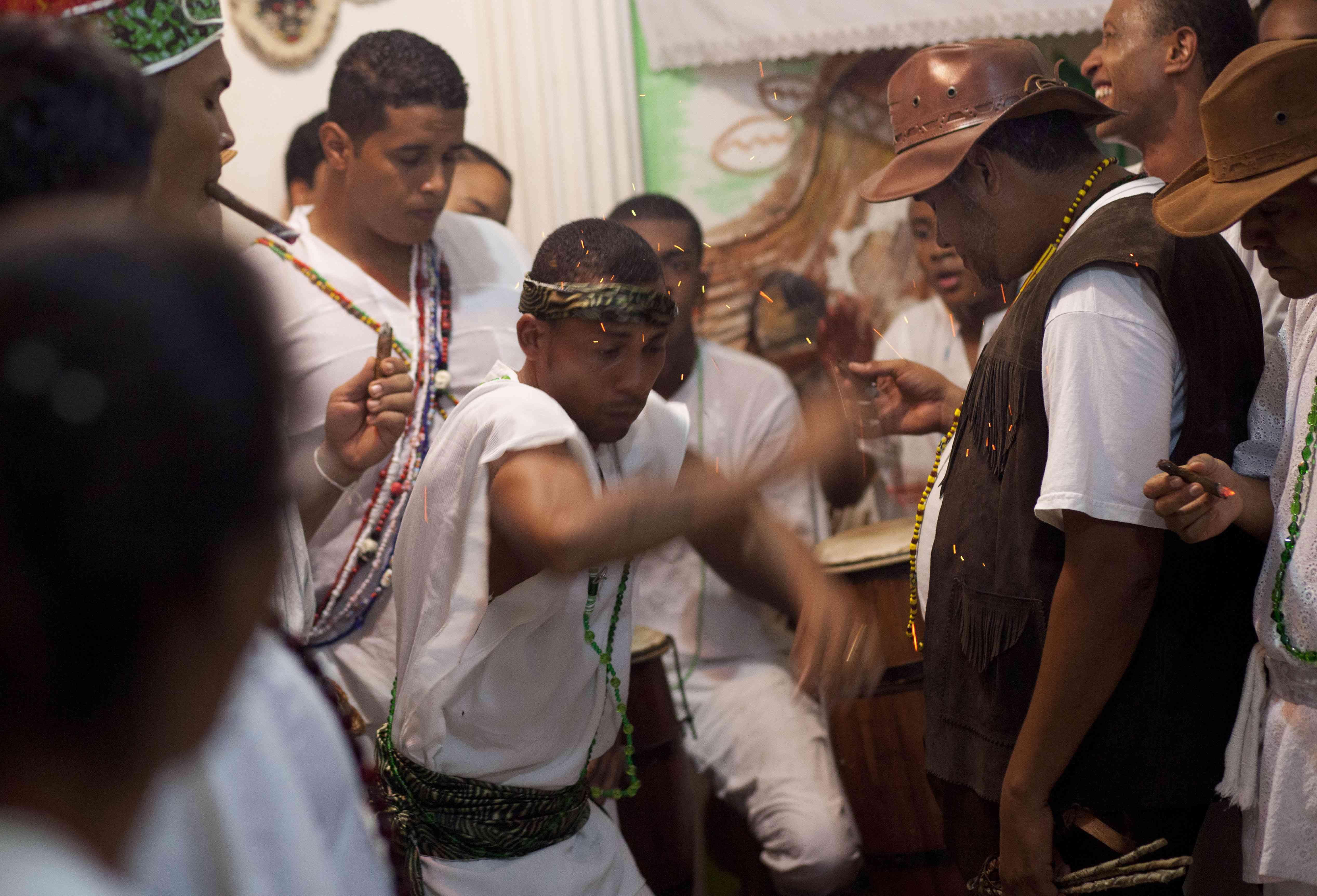 Candomble Umbanda ceremony in Salvador