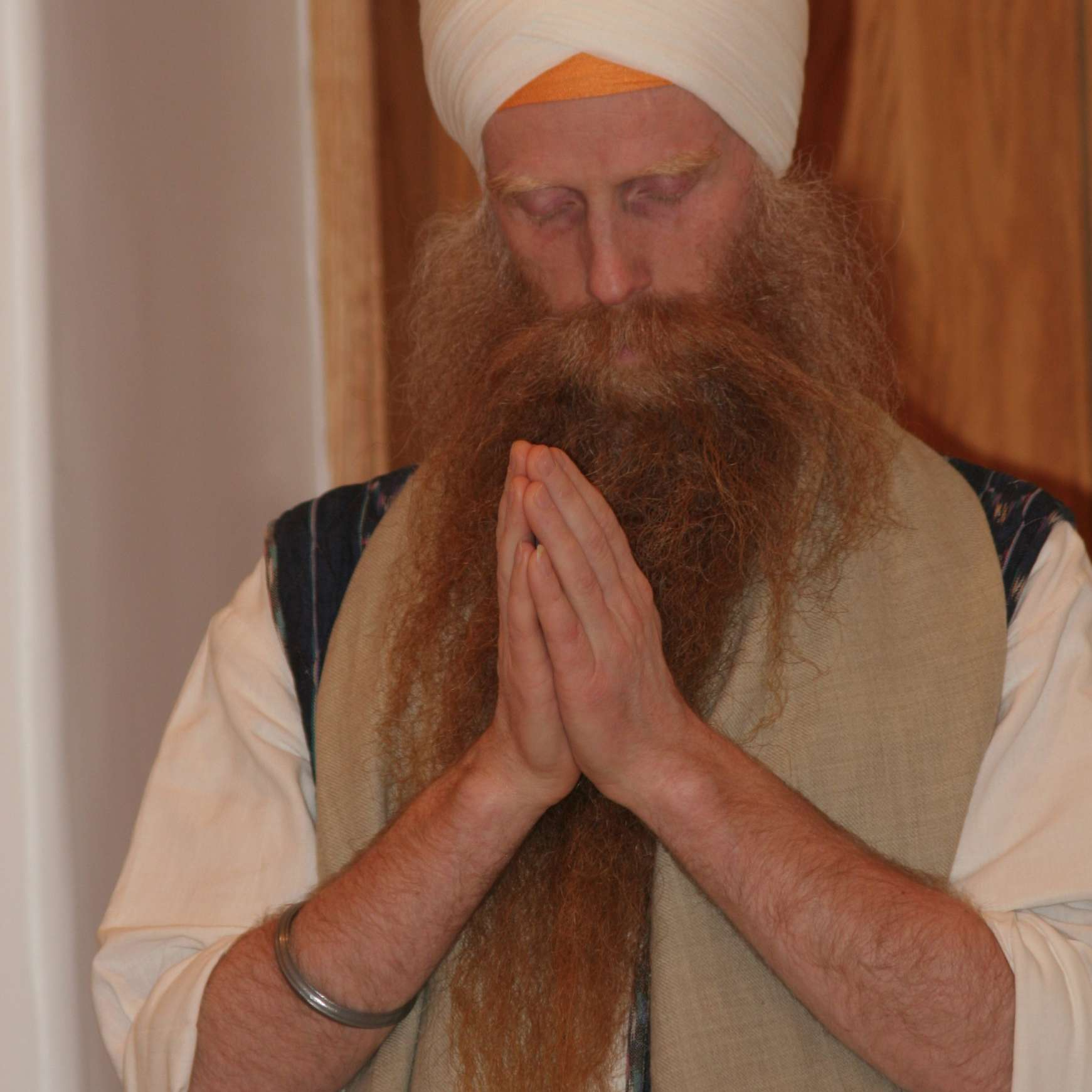 Sikh Man With Kes, Uncut Hair and Beard