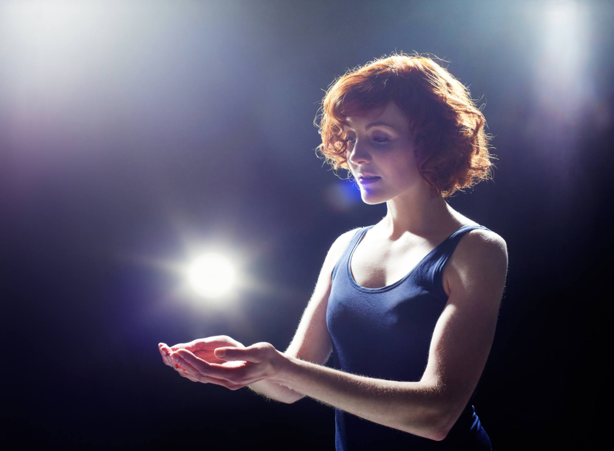 Woman with ball of light