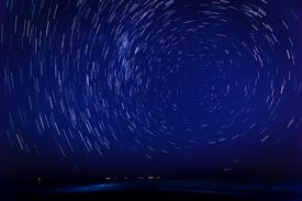 Long-exposure image of the stars