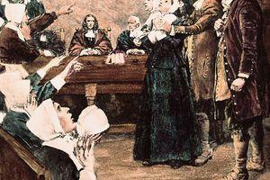 Salem Witch Trial Scene