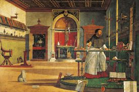 St Augustine in his studio by Vittore Carpaccio
