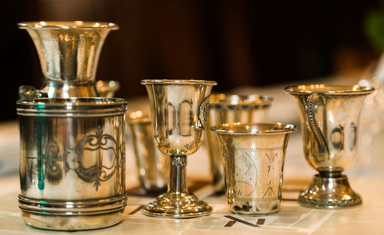 Silver Passover Wine Cups